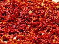 Hot chili peppers in the blistering sun, travel photo